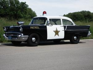 Chevrolet 150 2-Door Sedan Patrol Car 1957 года