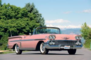 Chevrolet Bel Air Impala 348 4-BBL Turbo-Thrust Convertible 1958 года