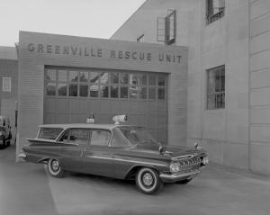 Chevrolet Biscayne Brookwood 4-Door Wagon Rescue Squad 1959 года