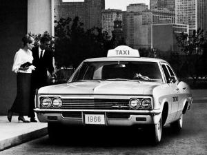 Chevrolet Biscayne 4-Door Sedan Taxi 1966 года