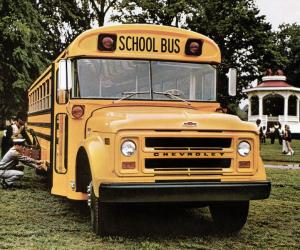 Chevrolet B60 Blue Bird School Bus 1968 года