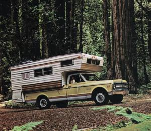 1969 Chevrolet C20 Fleetside Pickup with Open Road Camper