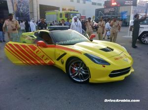 Chevrolet Corvette Stingray Dubai Fire Brigade 2013 года