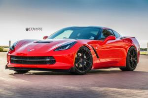 2014 Chevrolet Corvette Stingray on Strasse Wheels