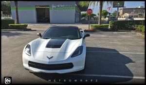 2016 Chevrolet Corvette Stingray 3M Carbon Fiber Top and Accents by MetroWrapz