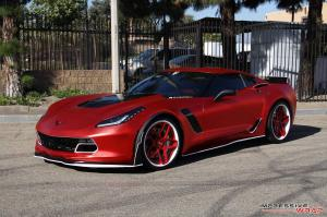 Chevrolet Corvette Z06 in APA Satin Red Chrome by Impressive Wrap 2016 года