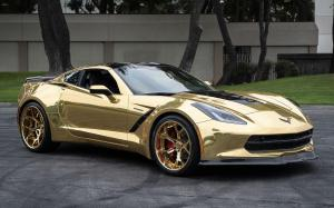 Chevrolet Corvette Convertible Gold on Forgiato Wheels (GTR) 2019 года