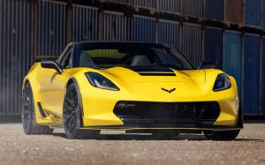 Chevrolet Corvette Grand Sport Convertible on Vossen Wheels (HF-2)