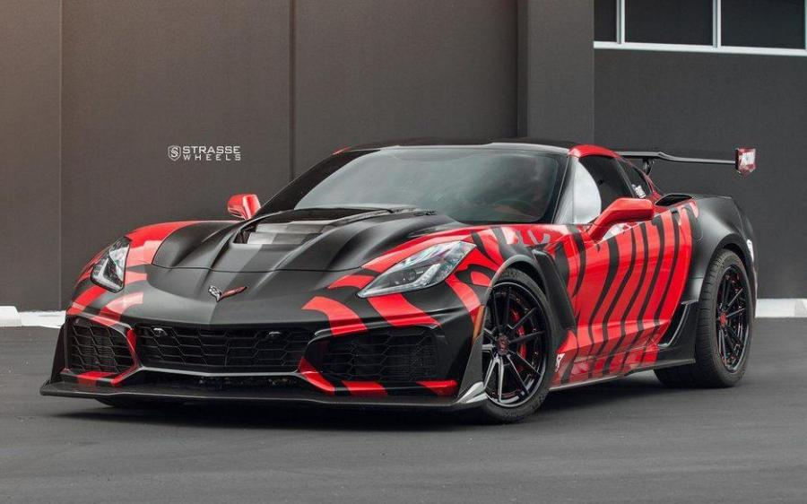Chevrolet Corvette ZR1 by NUR Performance on Strasse Wheels (SV1 Deep Concave FS)