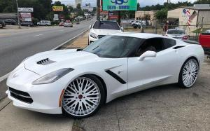 Chevrolet Corvette on Forgiato Wheels (Cravatta) 2019 года