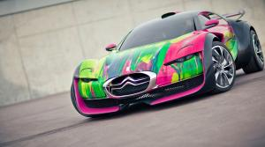 Citroen SURVOLT Concept Art Car by Francoise Nielly 2010 года