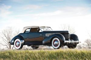 Cord 810 2-Door Convertible Phaeton Sedan 1936 года