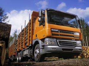 DAF CF85 6x4 FAT Sleeper Cab Timber Truck 2001 года