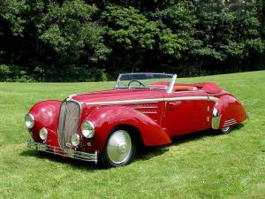 Delahaye 135 MS Roadster par Guillore 1946 года