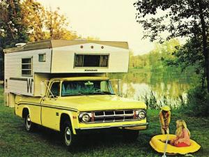 1969 Dodge D100 Adventurer Winnebago Camper