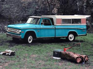 1970 Dodge D100 Sweptline Camper Cap by Winnebago