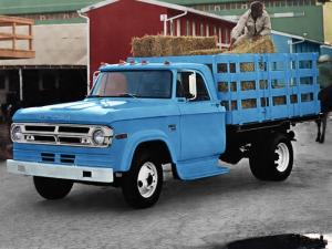 Dodge D300 Stake Truck 1970 года