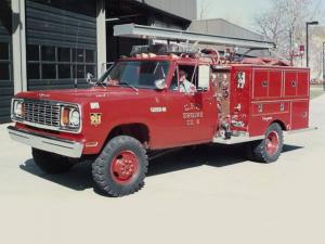 1977 Dodge W400 Power Wagon Firetruck by Seagrave