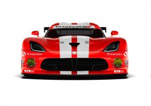 Dodge Viper GTS-R Red and White 2014 года