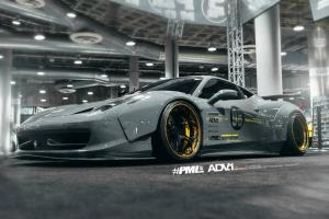 Ferrari 458 Italia by Liberty Walk and Platinum Motorsport on ADV.1 Wheels
