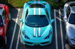 Ferrari 458 Speciale in Tiffany Blue Color 2014 года