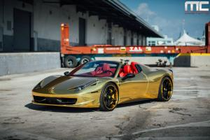 Ferrari 458 Spider by MC Customs on Vellano Wheels 2014 года