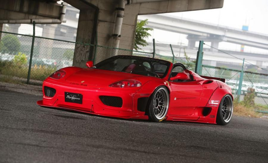 Ferrari 360 Spyder Widebody Kit by Liberty Walk