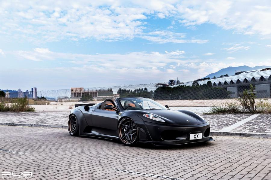 Ferrari F430 Spider by Liberty Walk on PUR Wheels (LX22.V3) '2016