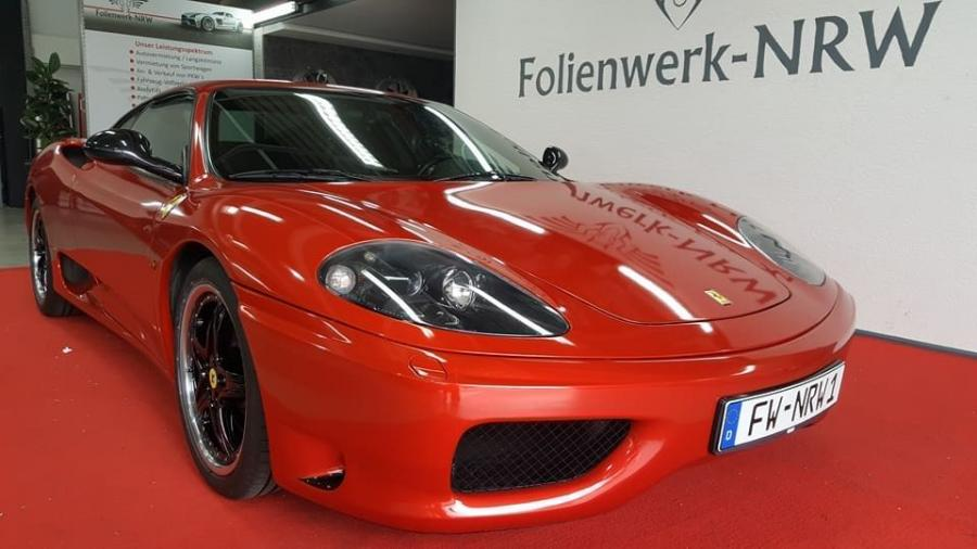Ferrari 360 Modena in Gloss Dragon Fire Red by Folienwerk-NRW