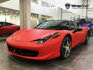 Ferrari 458 Italia Red Matt by WrapStyle 2017 года