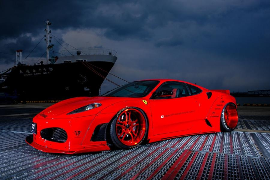 Ferrari F430 WideBody by Liberty Walk on Forgiato Wheels (S216)