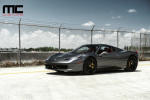 2018 Ferrari 488 Spider Matte Black by MC Customs on Avant Garde Wheels