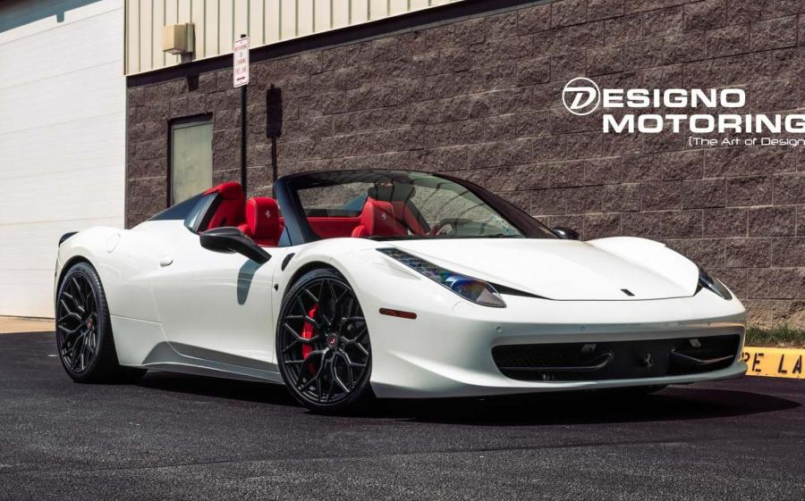 2019 Ferrari 458 Spider by Designo Motoring on Vossen Wheels (S17-01)