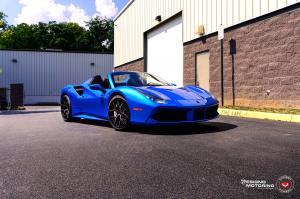 2019 Ferrari 488 Spider Blu Swaters by Designo Motoring on Vossen Wheels (S21-01)