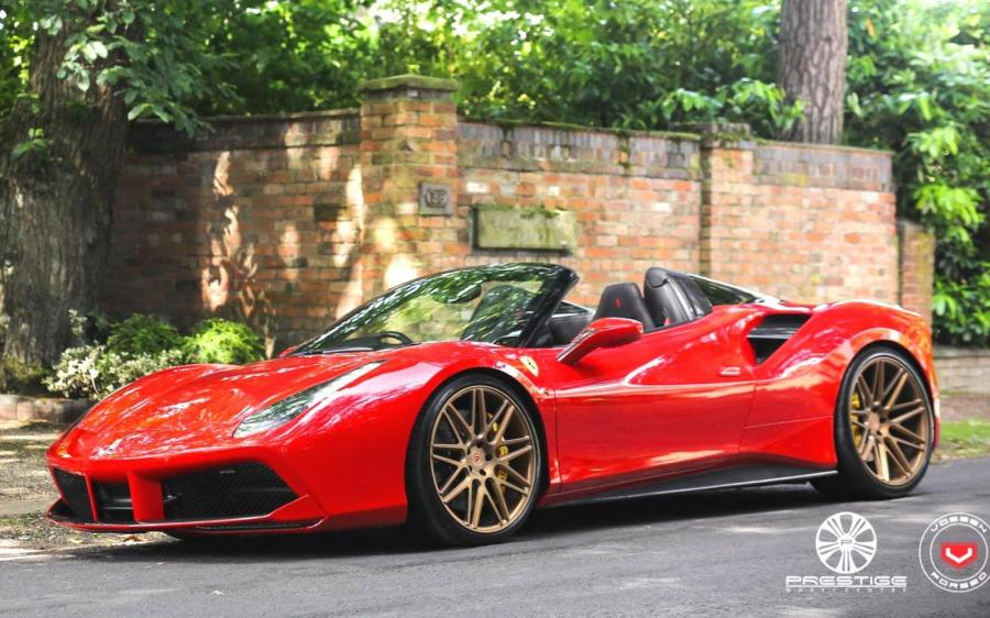 2019 Ferrari 488 Spider on Vossen Wheels (VPS-314) (UK)