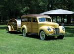 Ford DeLuxe Station Wagon with Matching Trailer 1940 года