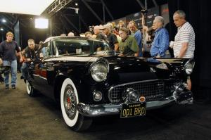 Ford Thunderbird Black 1955 года