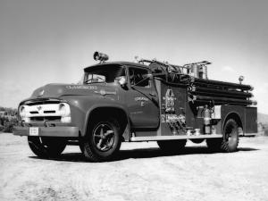 Ford F-750 Big Job Firetruck by King-Seagrave 1956 года