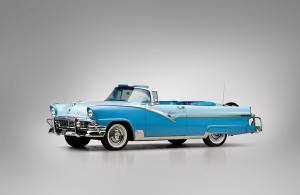 1956 Ford Fairlane Sunliner Convertible White & Blue