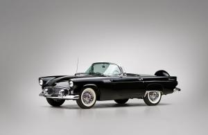 Ford Thunderbird Black 1956 года