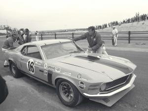 Ford Mustang Boss 302 Sportroof George Follmer Trans AM Race Car 1970 года
