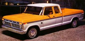 Ford F-150 Ranger XLT SuperCab Styleside Pickup 1975 года