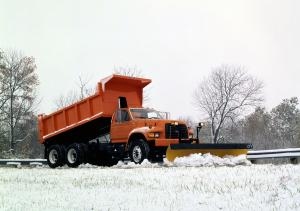 Ford F-Series Heil Dump Truck with Snowplow 1995 года