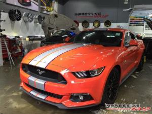 Ford Mustang GT 5.0 by Impressive Wrap 2016 года