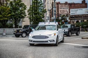Ford Fusion Hybrid Argo AI Self-Driving Car 2017 года