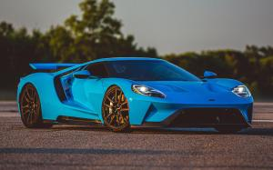 Ford GT Riviera Blue 2017 года