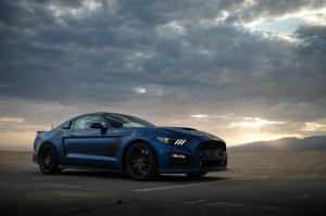 Ford Mustang GT Lightning Blue Metallic Stage 3 by Roush 2017 года