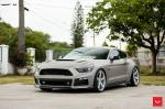 Ford Mustang GT Matte Grey by Roush on Vossen Wheels (CV3R) 2017 года