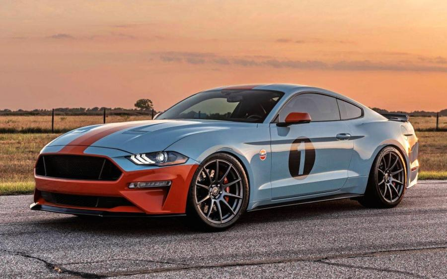 2019 Ford Mustang GT Gulf Heritage by Brown Lee Performance