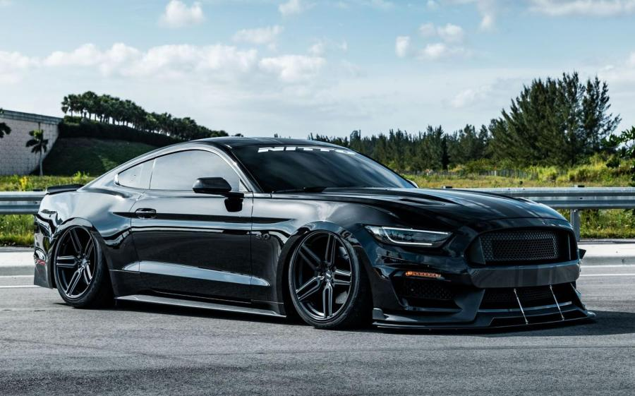2019 Ford Mustang GT by NITTO on Vossen Wheels (HF-1)